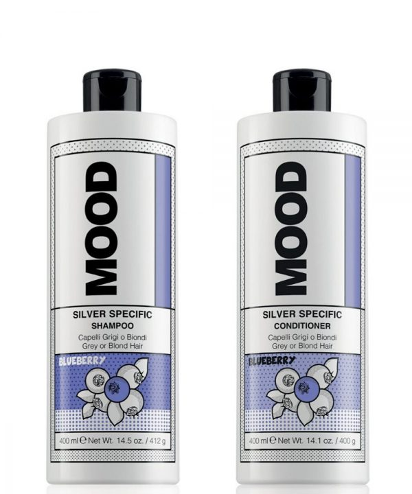 Mood silver shampoo conditioner package
