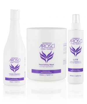 Arosci Volume Shampoo, Nourishing Mask & L.I.T.E Set